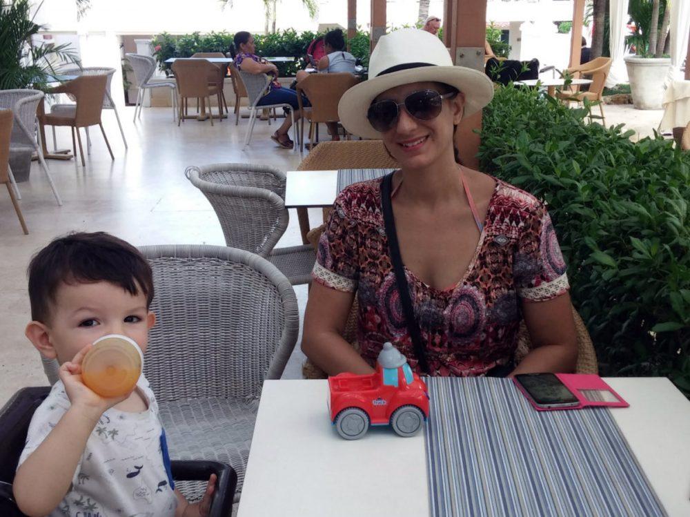 Almorzando en Cartagena de Indias, Colombia