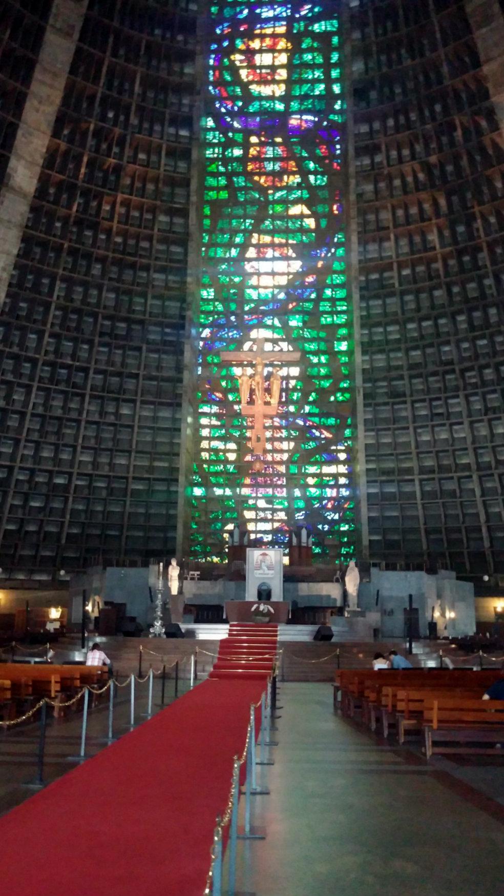 Interior de la Catedral de Río de Janeiro