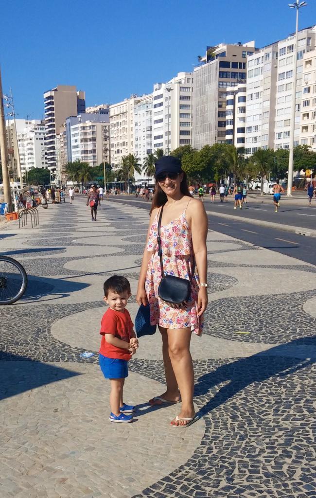 Caminando en Copacabana