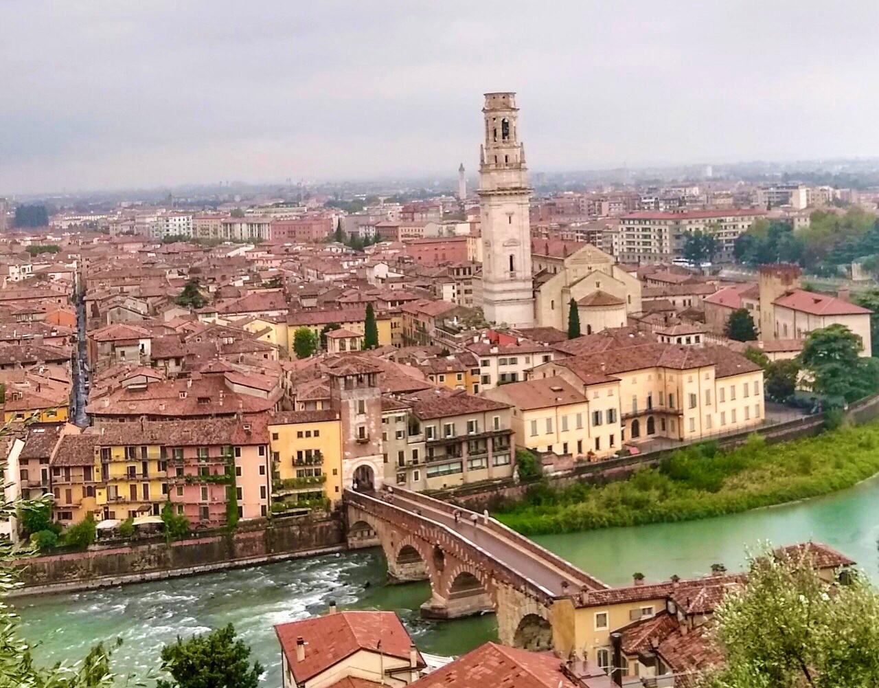 Verona desde el Castillo de San Pietro