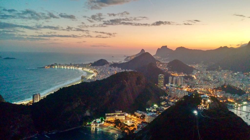 Vista de Copacabana desde el Pan de Azúcar